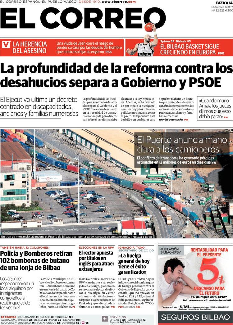 Periodico el correo 14 11 2012 for Correo la 14