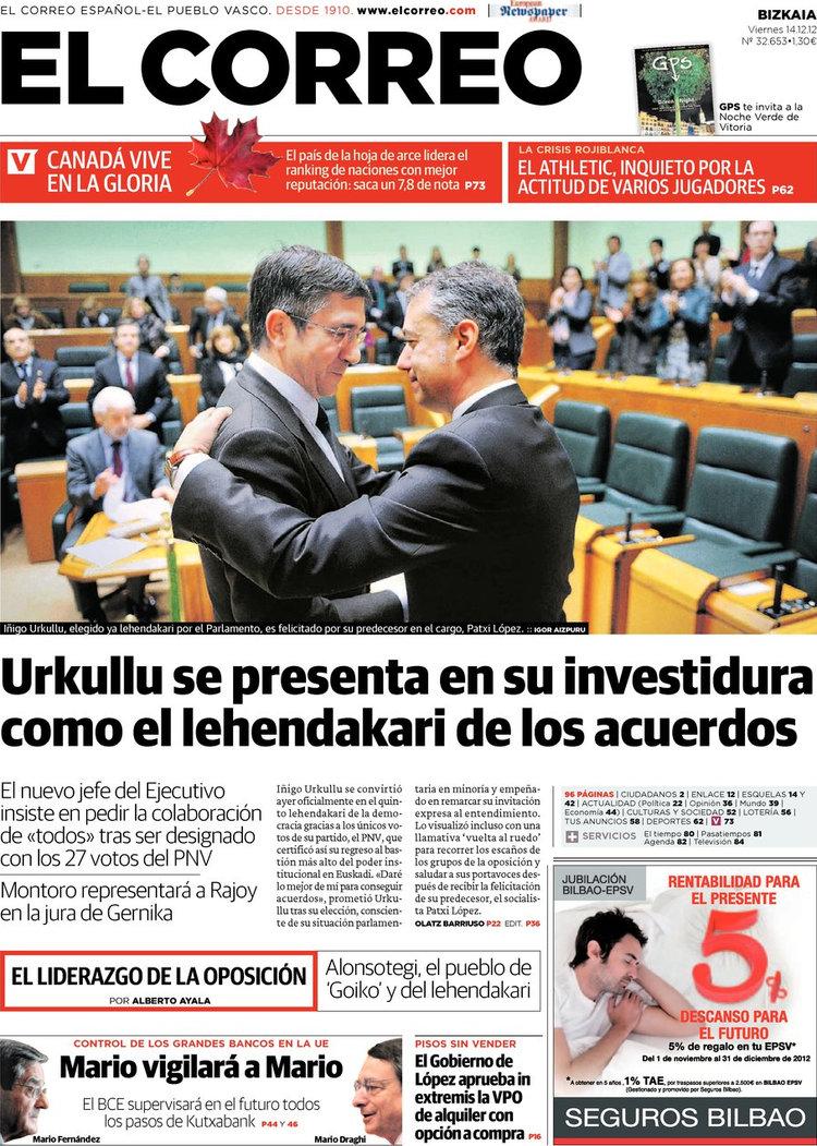 Periodico el correo 14 12 2012 for Correo la 14