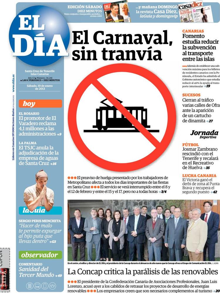 Periodico el d a 19 1 2013 - Transporte entre islas canarias ...
