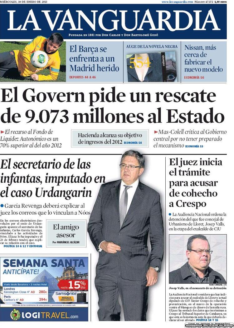 periodico la vanguardia 30 1 2013