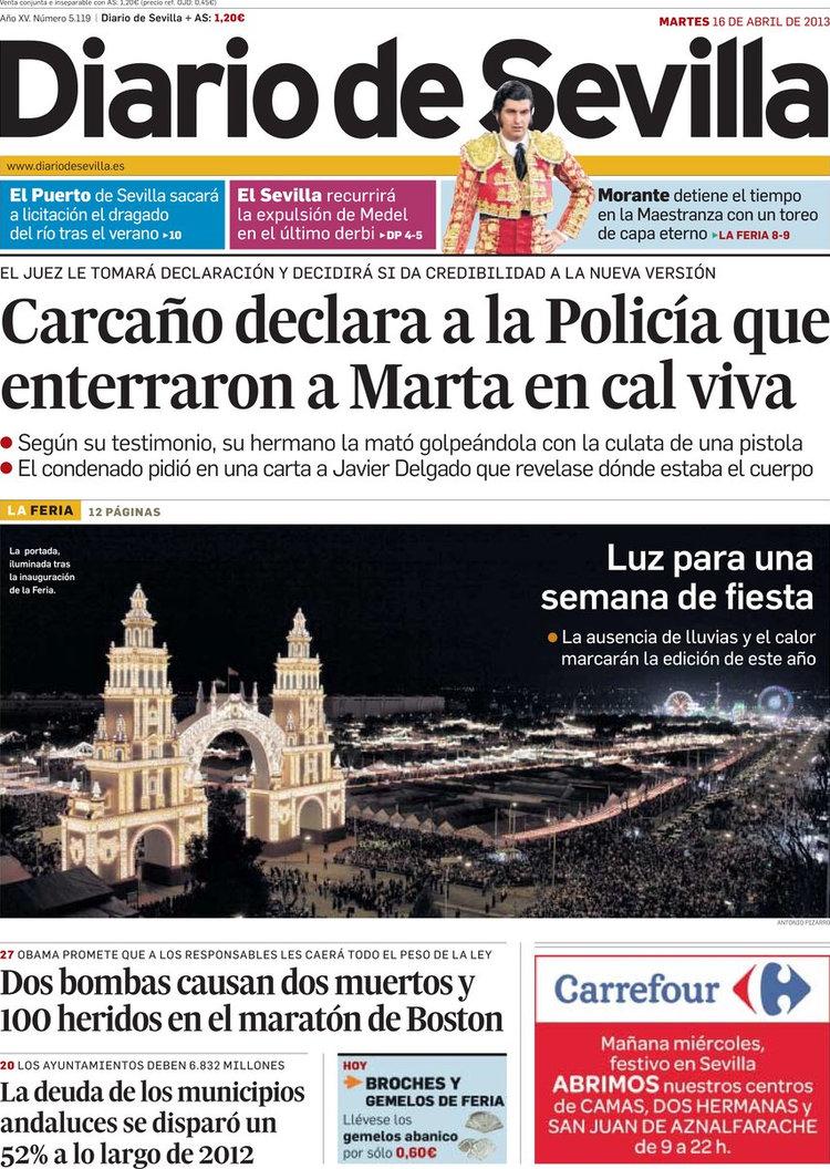 Periodico diario de sevilla 16 4 2013 - El tiempo en sevilla la nueva ...
