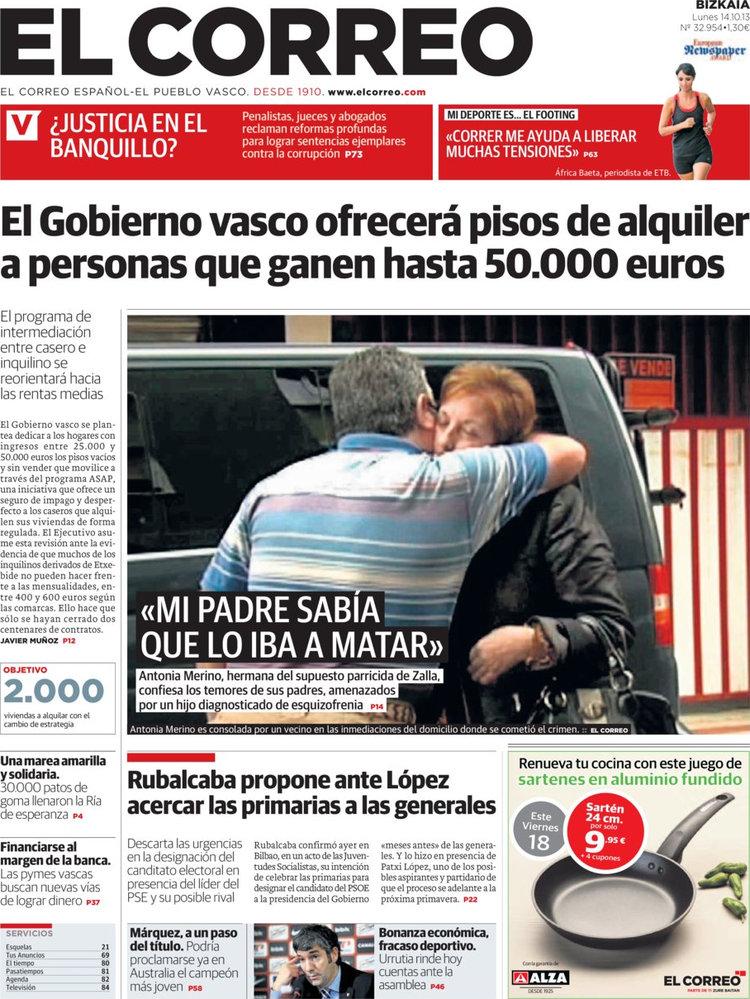 Periodico el correo 14 10 2013 for Correo la 14
