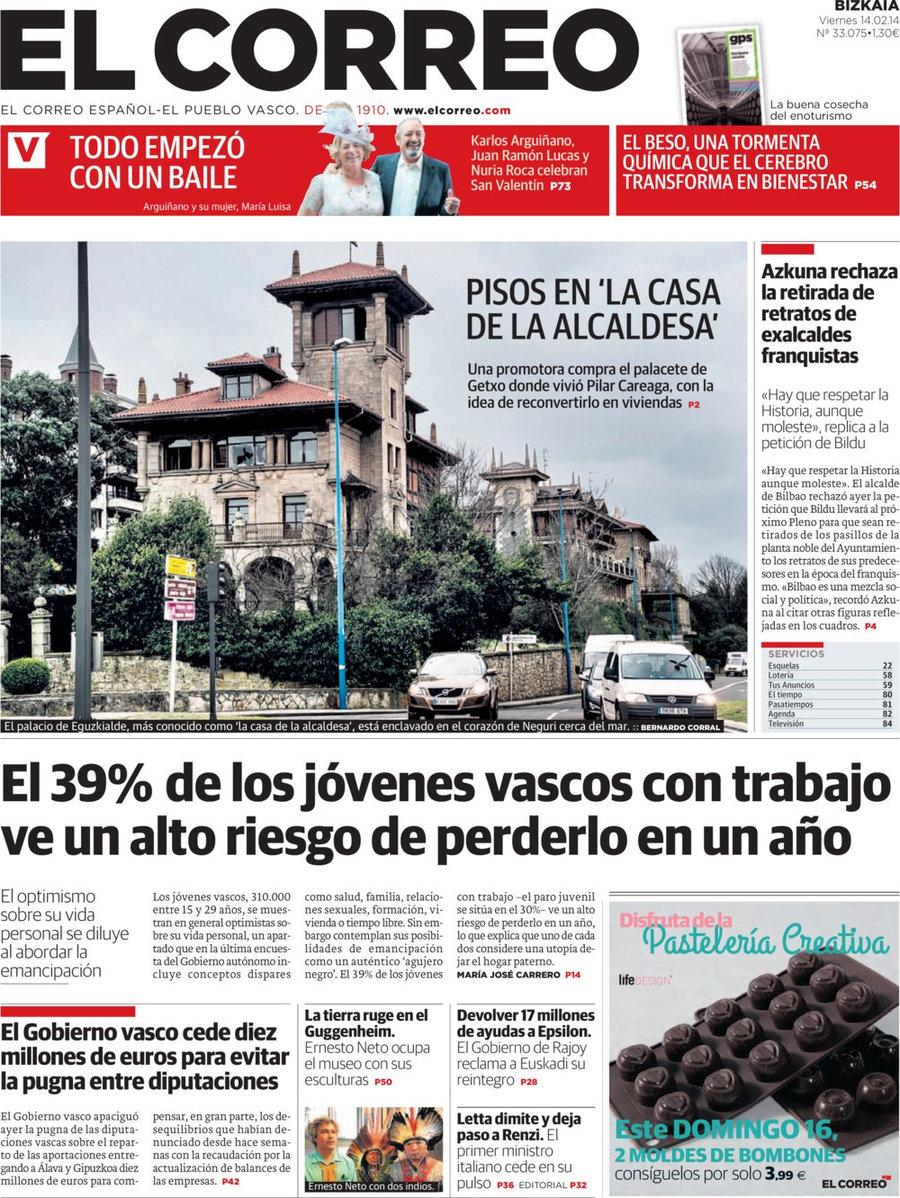 Periodico el correo 14 2 2014 for Correo la 14