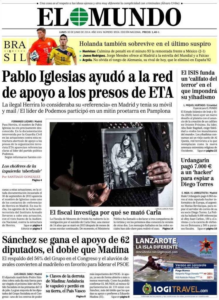 El Mundo - 30 de junio de 2014