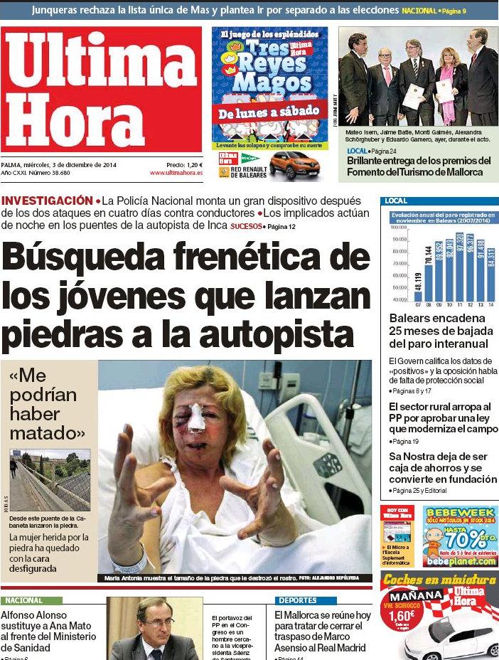 Periodico ltima hora 3 12 2014 for Noticias de espectaculos de ultima hora