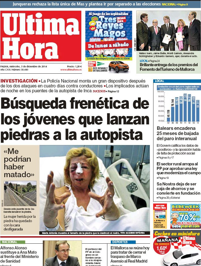 Periodico Ltima Hora 3 12 2014
