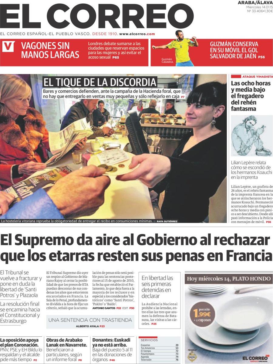 Periodico el correo lava 14 1 2015 for Correo la 14