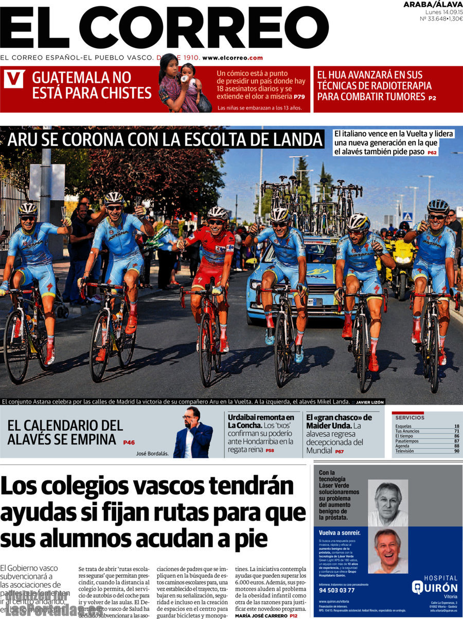 Periodico el correo lava 14 9 2015 for Correo la 14