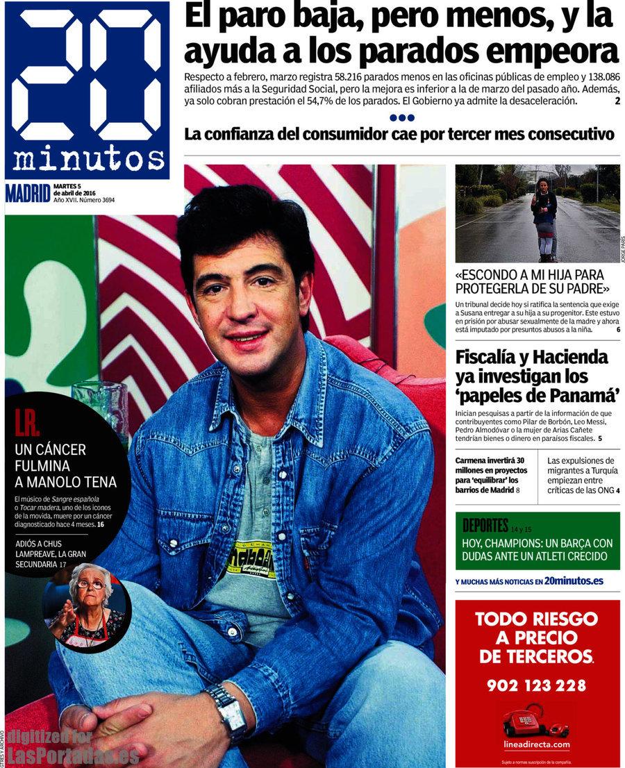 Periodico 20 minutos 5 4 2016 for Oficina consumidor granada