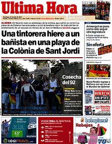 Image result for tintorera hiere a hombre en colonia sant jordi