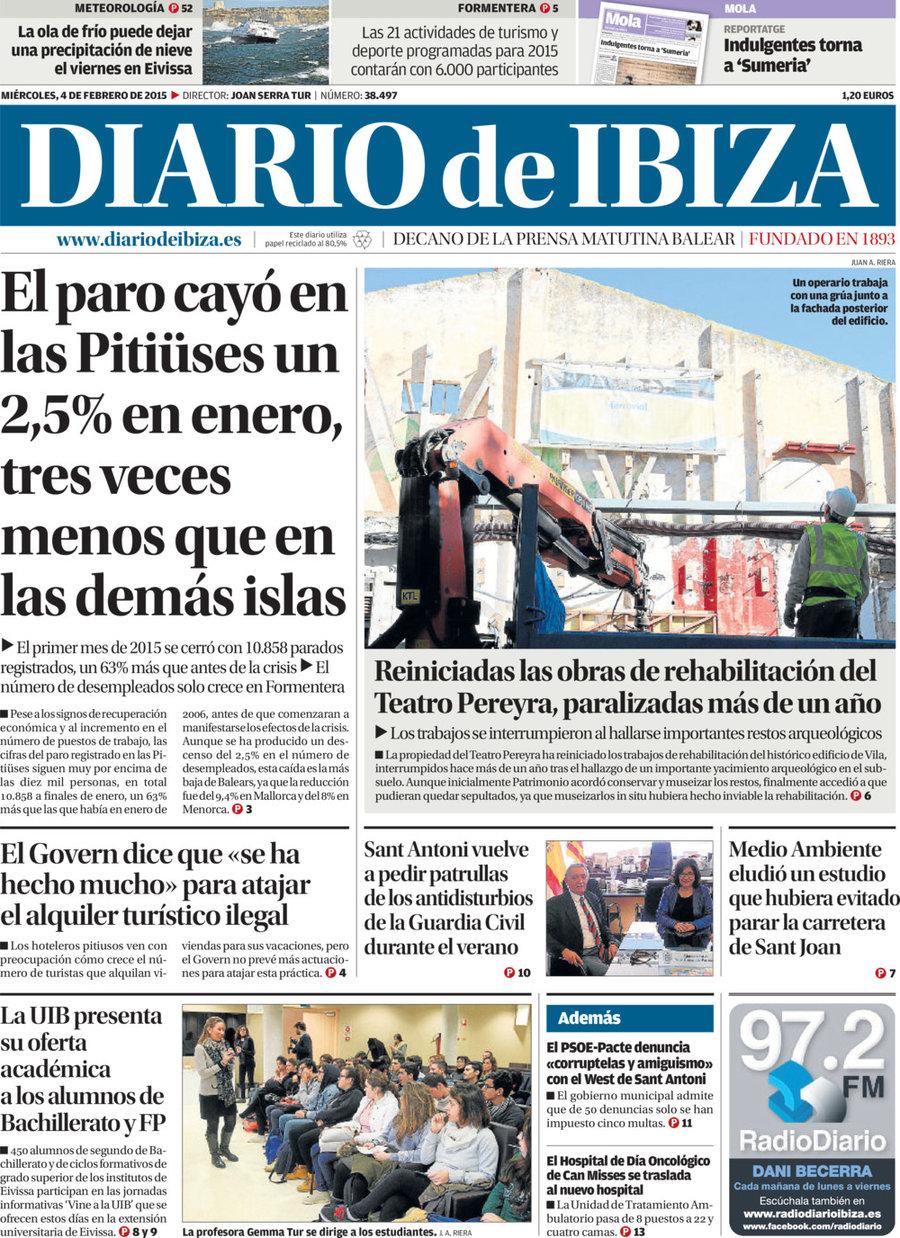 Periodico Diario De Ibiza 4 2 2015
