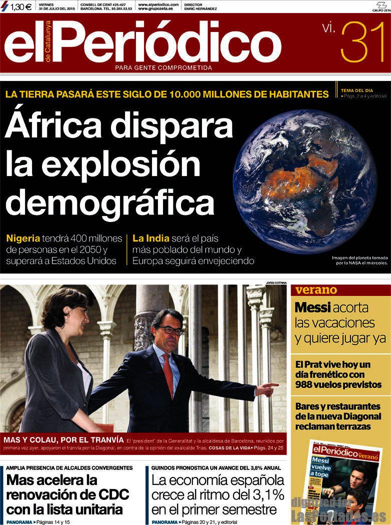 Periodico El Periódico De Catalunya Català 31 7 2015