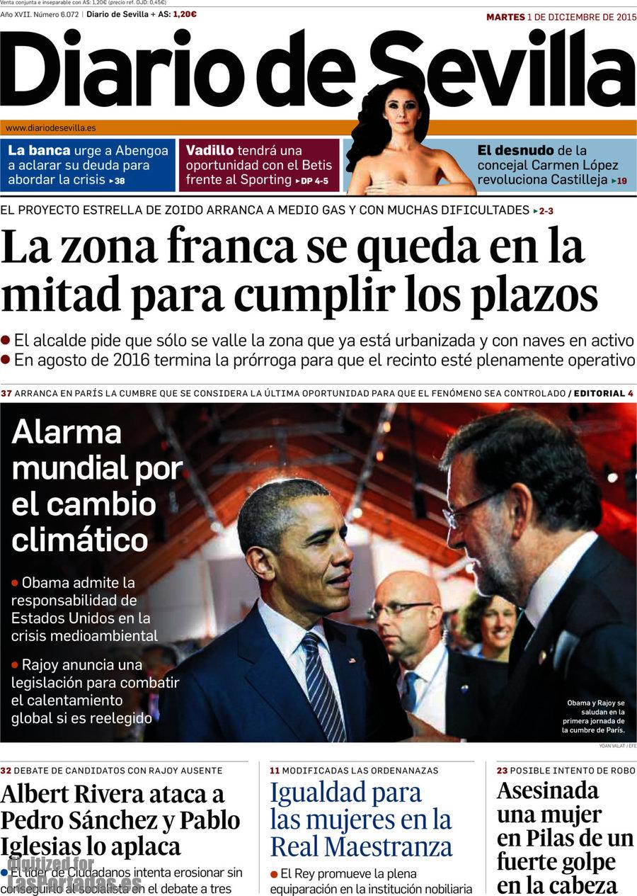 Periodico Diario De Sevilla 1122015