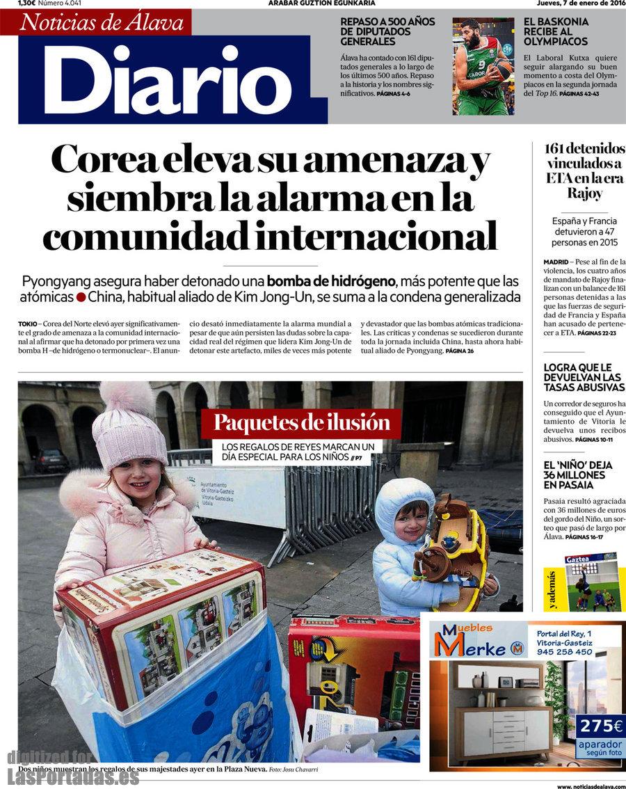 Periodico diario de noticias de lava 7 1 2016 for Una noticia de espectaculos