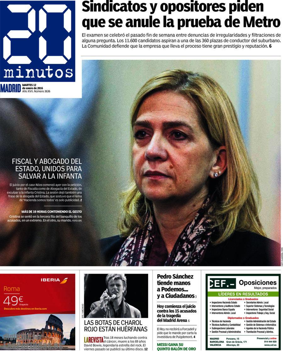 Periodico 20 Minutos 12 1 2016