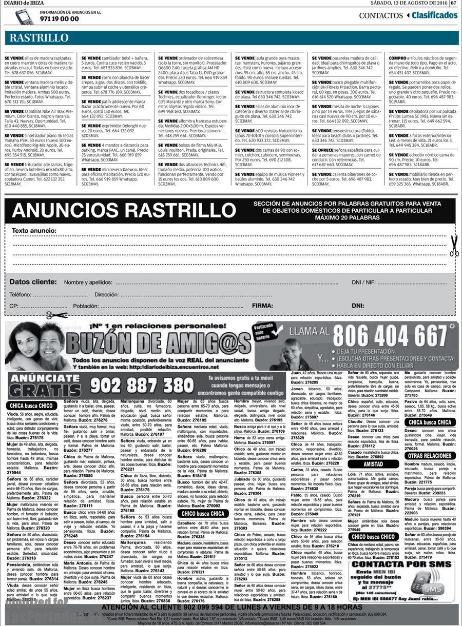 Periodico Diario De Ibiza 13 8 2016