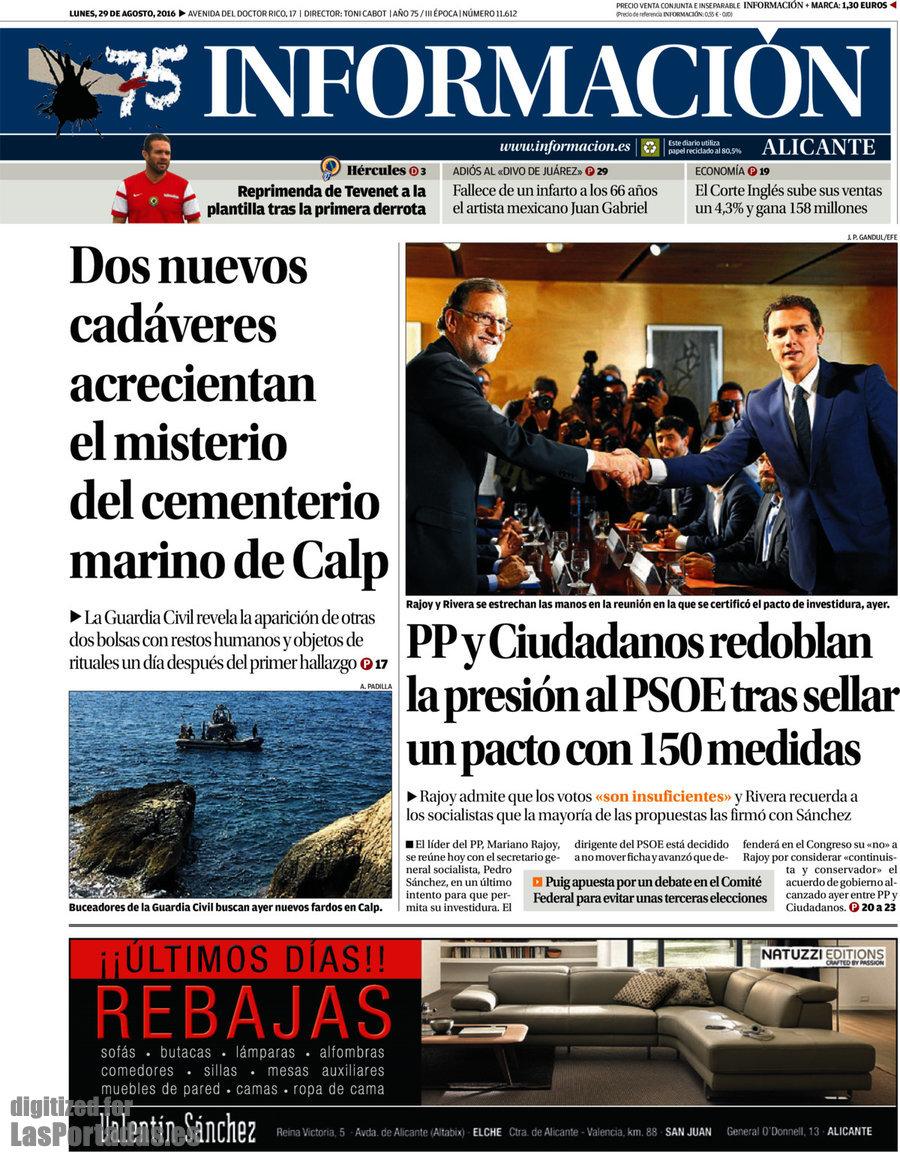 Periodico Información - 29/8/2016