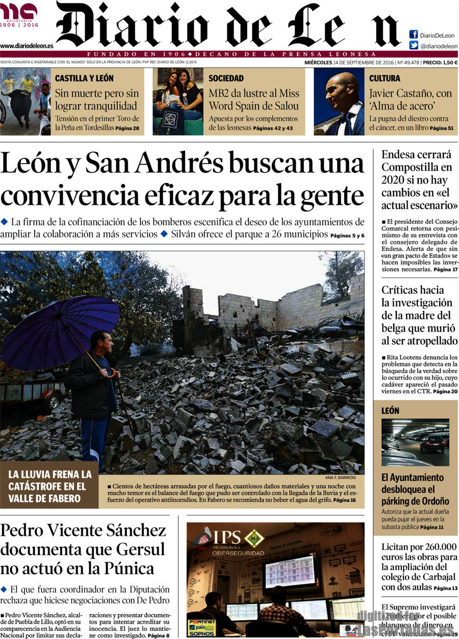 5f111e6461ce Periodico Diario de León - 14 9 2016