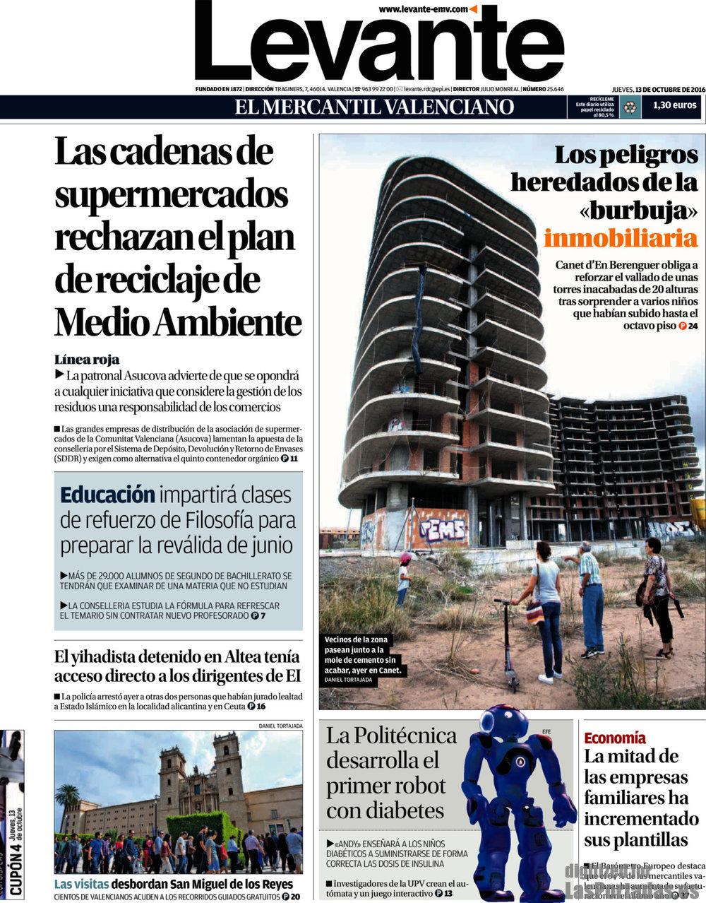 Periodico Levante - 13/10/2016