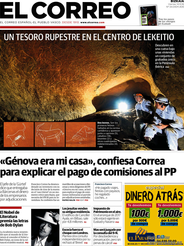 Periodico el correo 14 10 2016 for Correo la 14