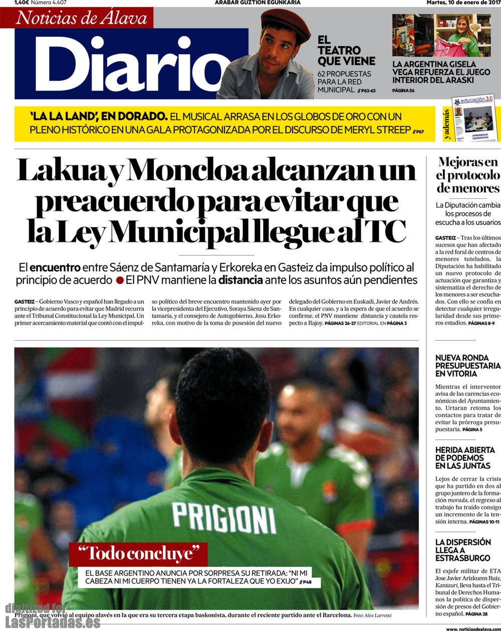 Periodico diario de noticias de lava 10 1 2017 for Noticias del gobierno