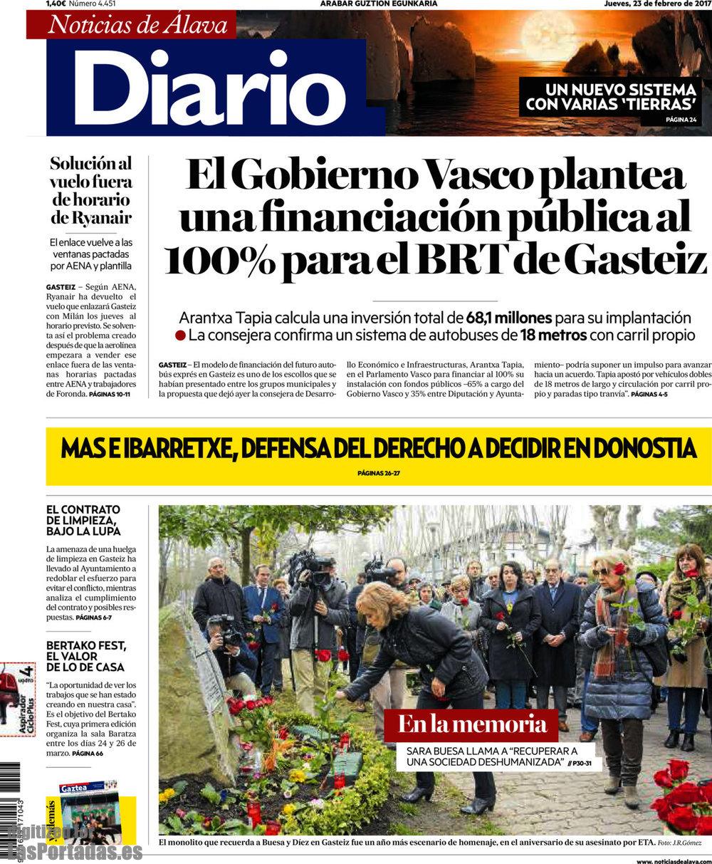Periodico Diario de Noticias de Álava - 23/2/2017
