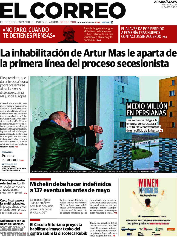 Periodico el correo lava 14 3 2017 for Correo la 14