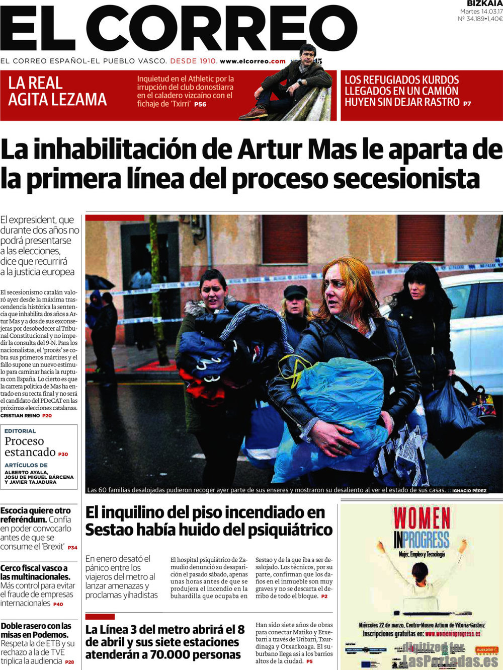 Periodico el correo 14 3 2017 for Correo la 14