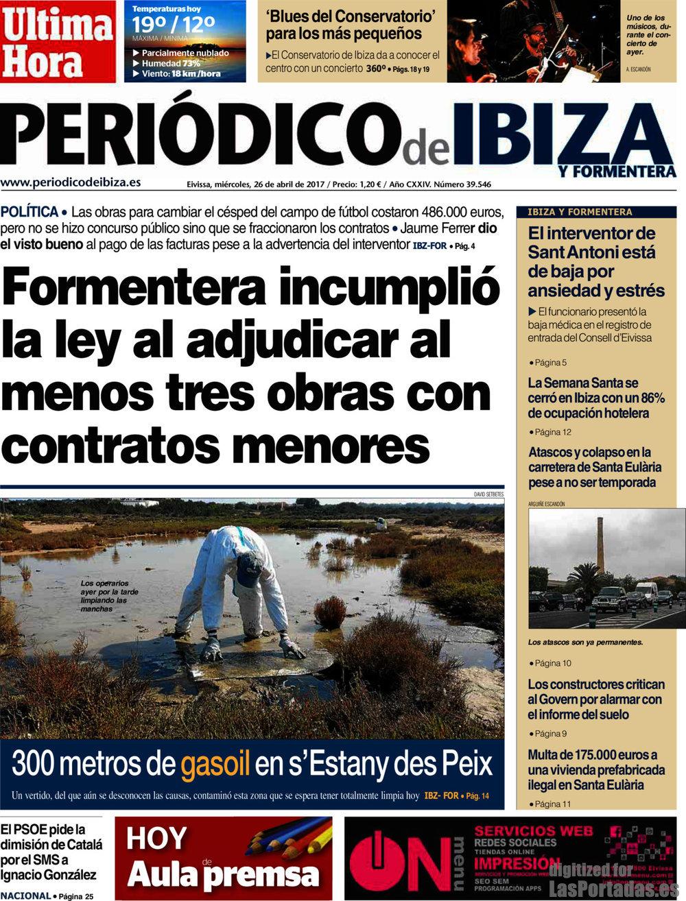 Periodico peri dico de ibiza 26 4 2017 - Conservatorio de ibiza ...