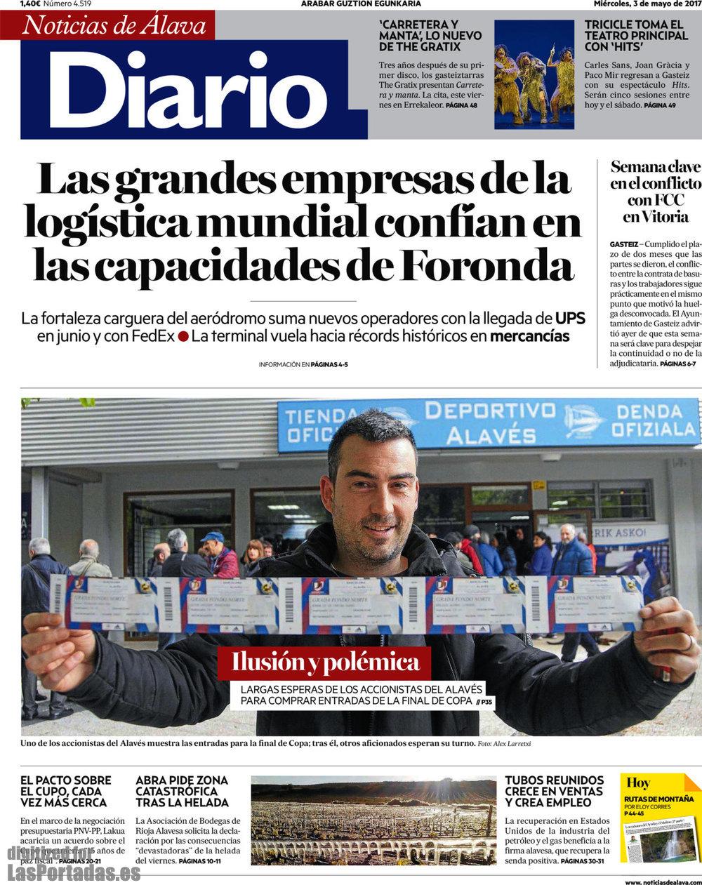 Periodico diario de noticias de lava 3 5 2017 for Ultimas noticias del espectaculo de hoy
