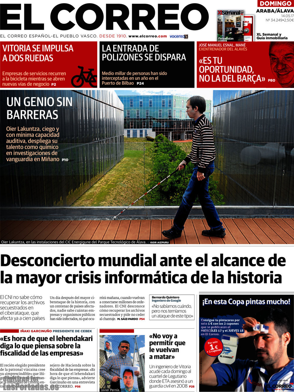 Periodico el correo lava 14 5 2017 for Correo la 14