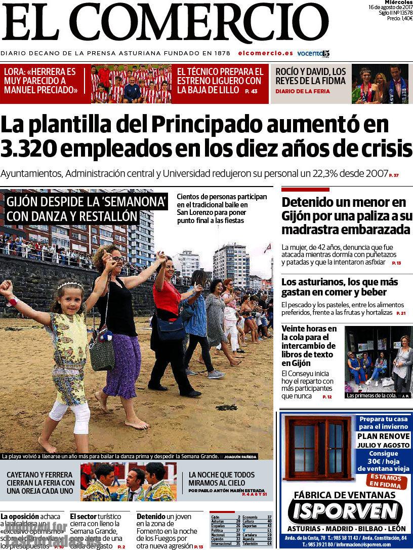 Periodico El Comercio - 16/8/2017