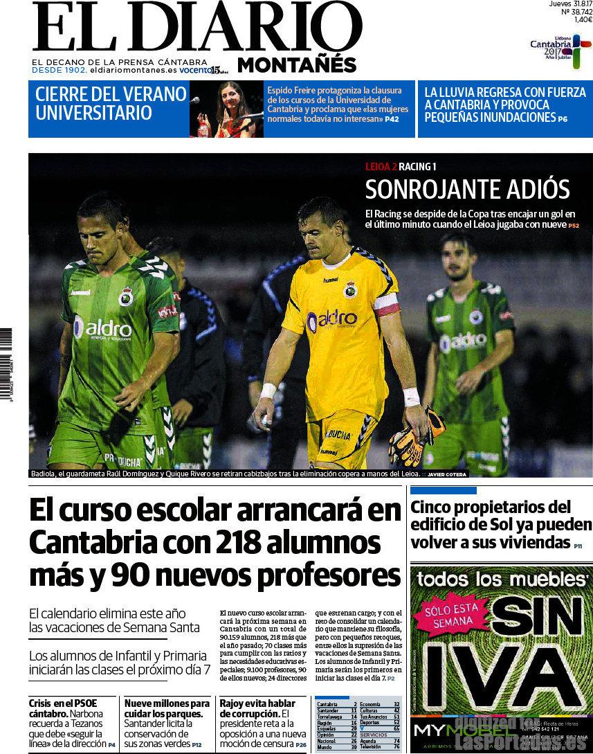 Periodico El Diario Monta S 31 8 2017 # Muebles Badiola