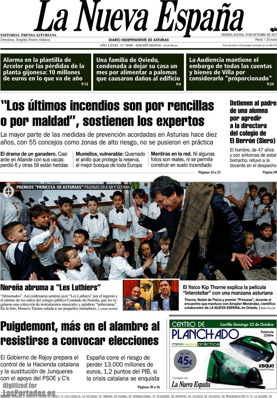 Periodico La Nueva España - 19/10/2017