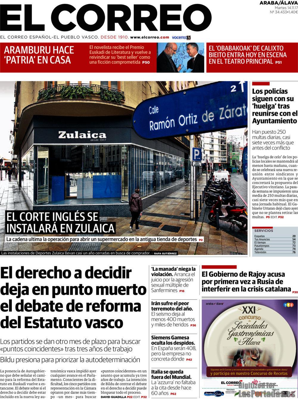 Periodico el correo lava 14 11 2017 for Correo la 14