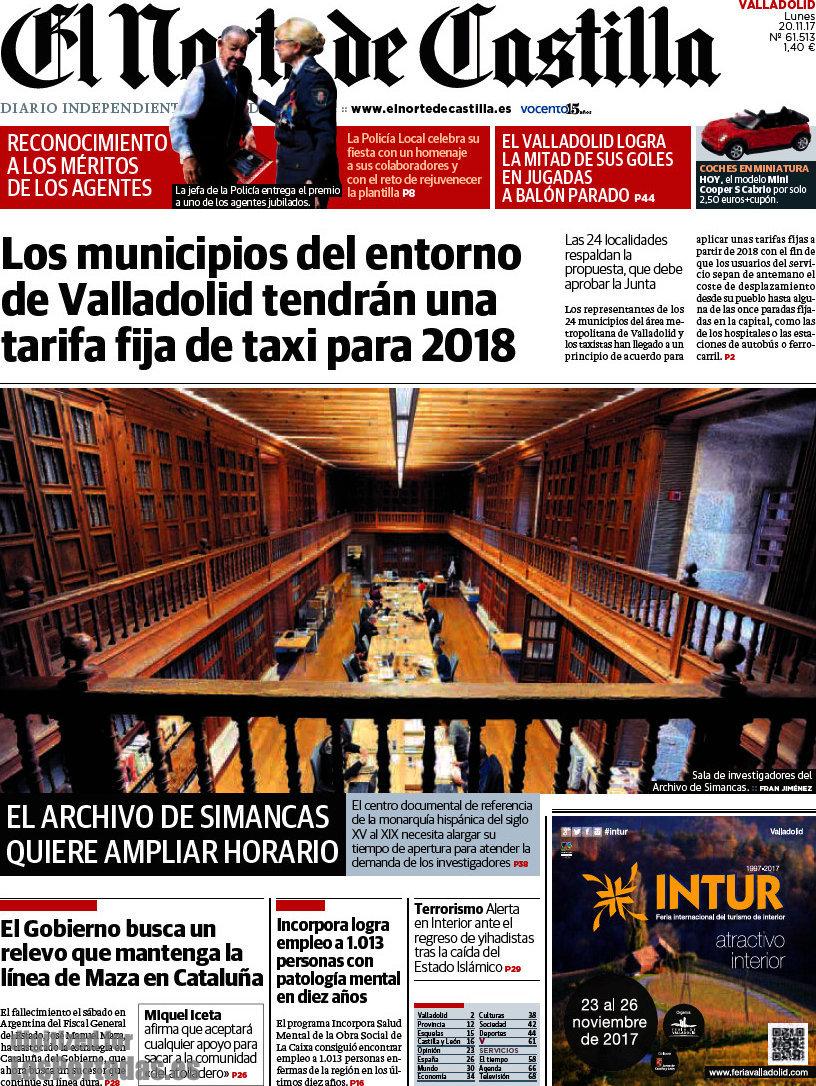Periodico El Norte de Castilla - 20/11/2017