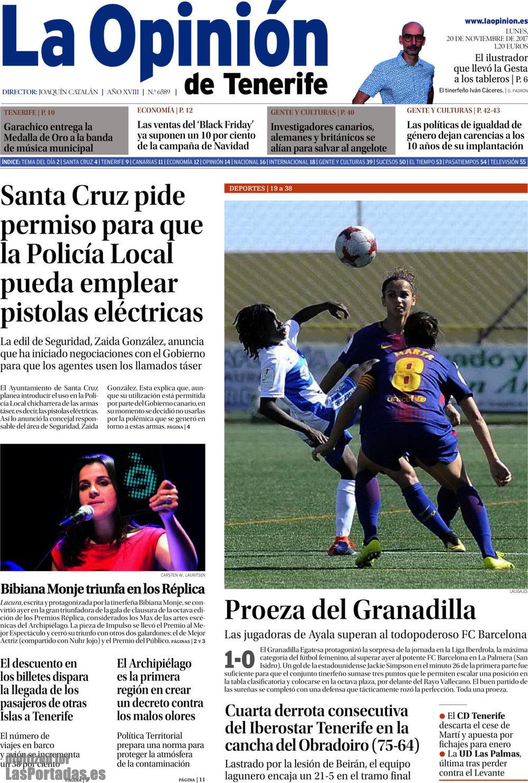 Periodico la opini n de tenerife 20 11 2017 - Black friday tenerife 2017 ...