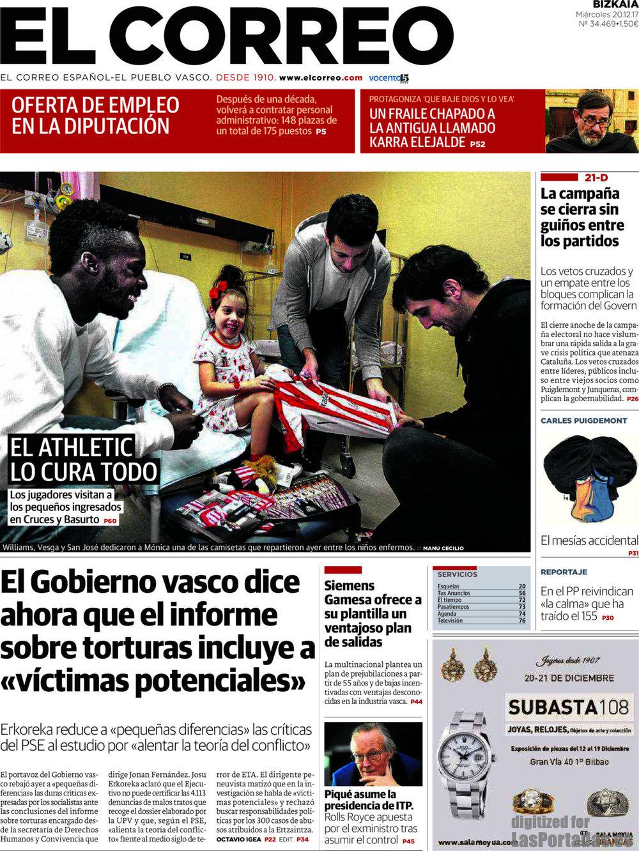 Periodico El Correo - 20/12/2017