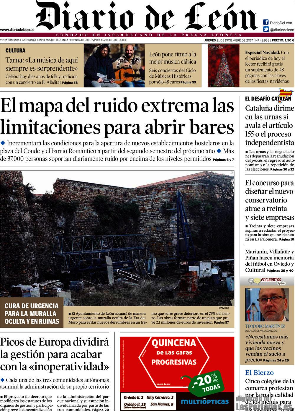 Periodico Diario de León - 21/12/2017
