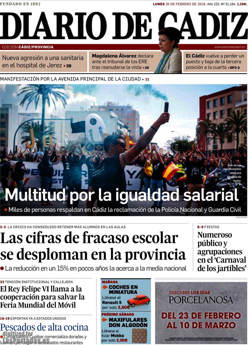 Periodico Diario de Cádiz - 26/2/2018
