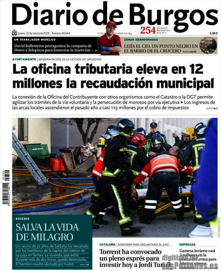 Periodico diario de burgos 22 3 2018 for Catastro burgos oficina virtual