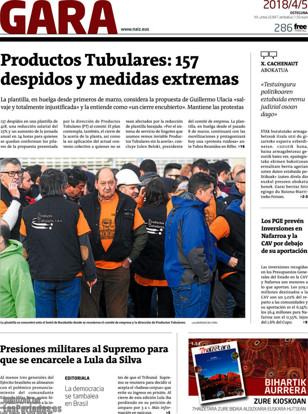 Periodico Gara - 5/4/2018