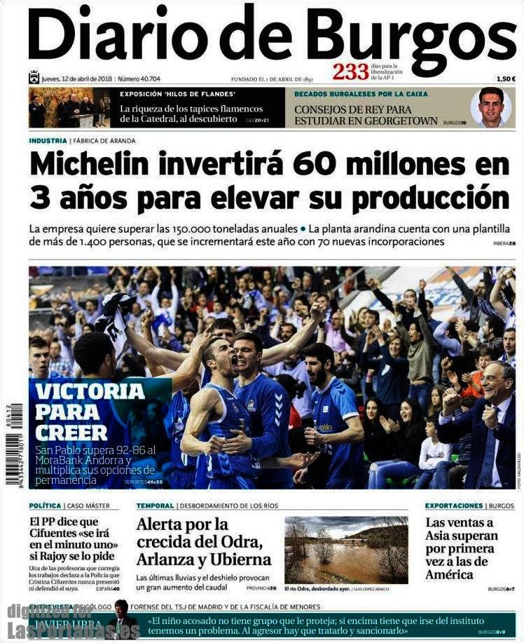 Periodico Diario de Burgos - 12/4/2018