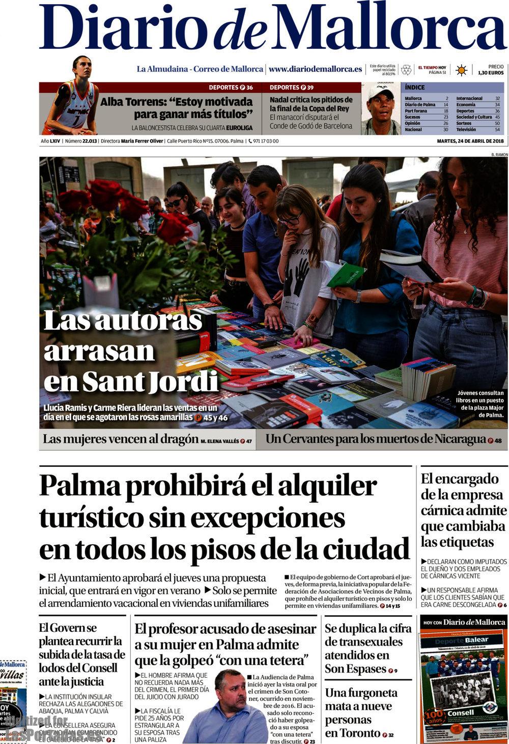 Periodico Diario de Mallorca - 24/4/2018