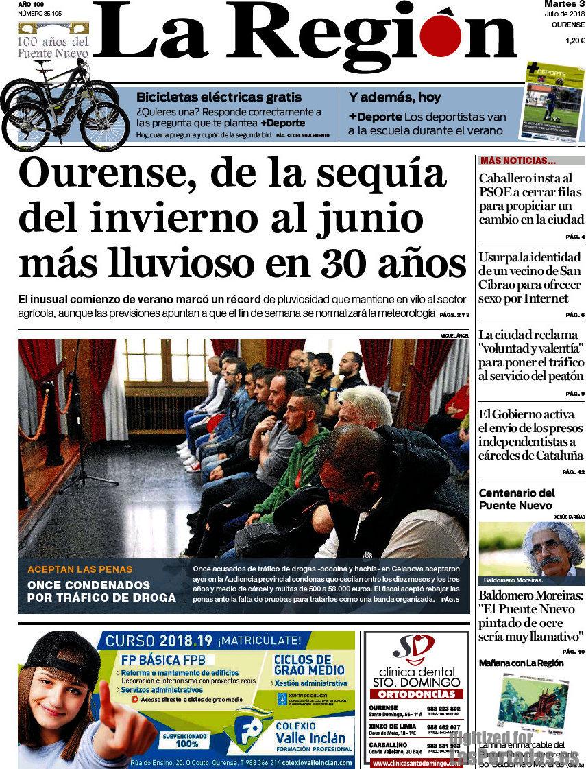 Periodico La Región - 3/7/2018