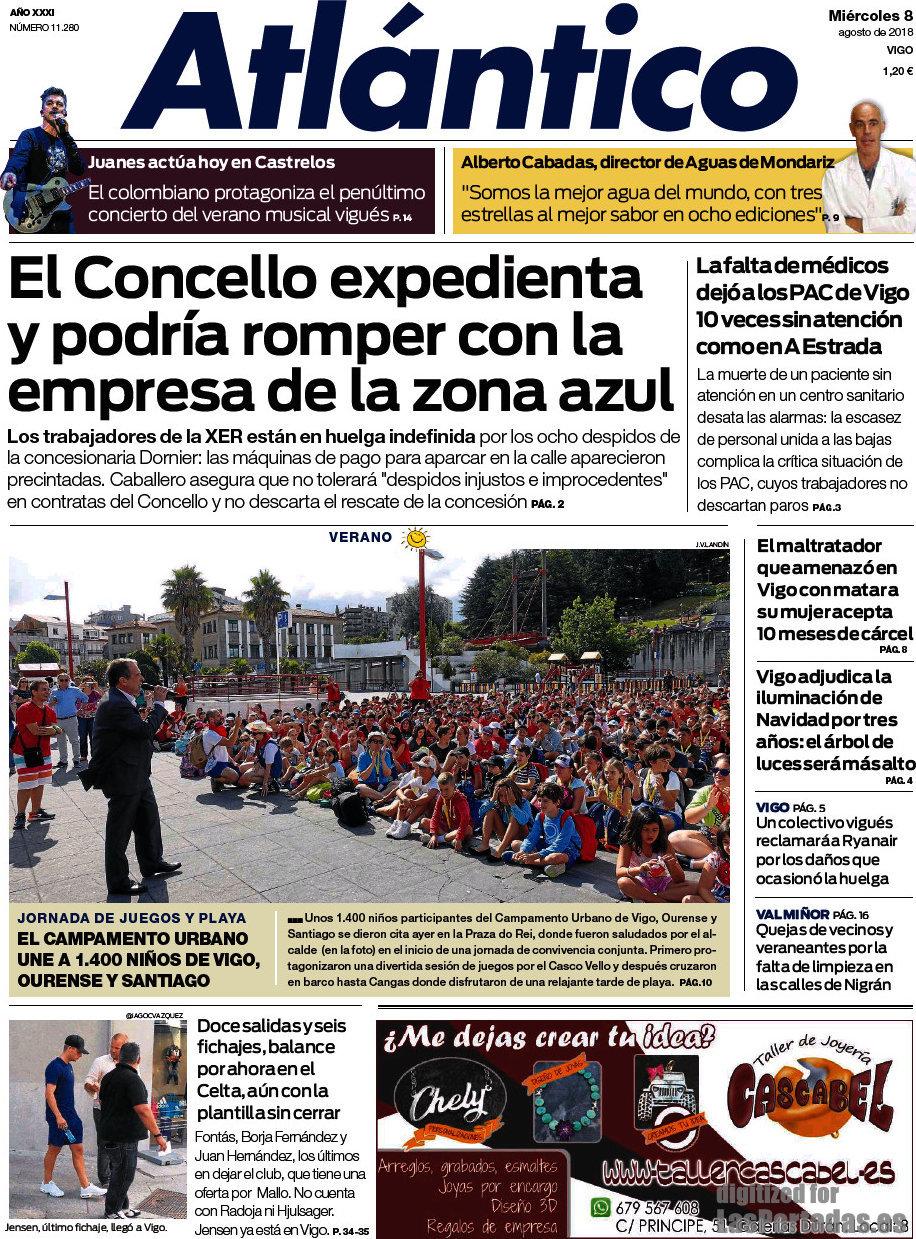 Periodico Atlántico Diario - 8/8/2018