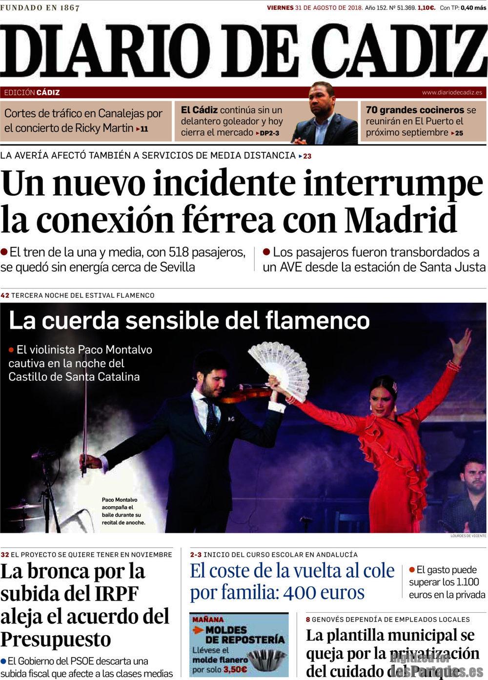 Periodico Diario de Cádiz - 31/8/2018