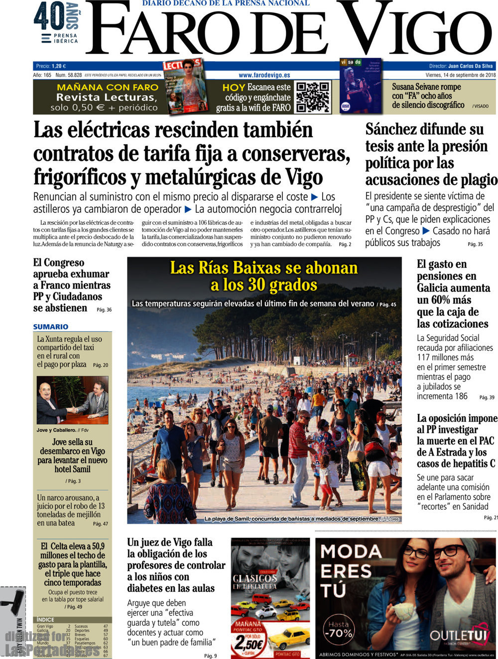 Periodico Faro de Vigo - 14/9/2018