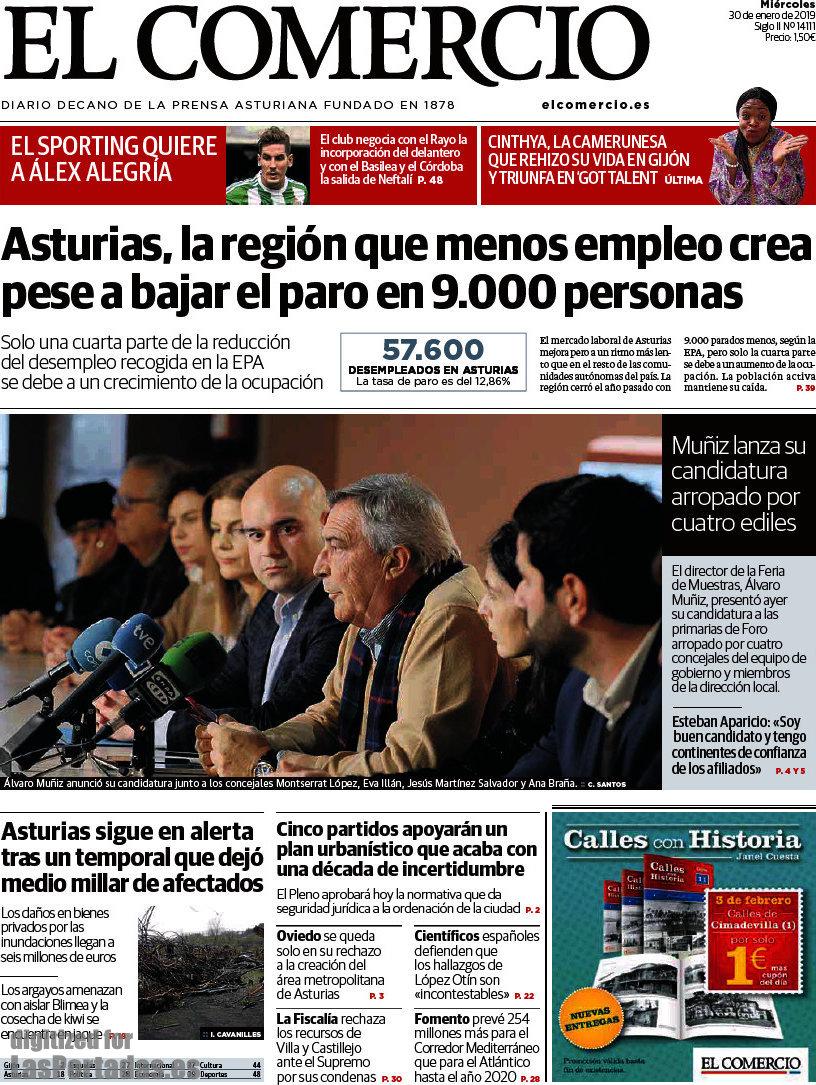 Periodico El Comercio - 30/1/2019
