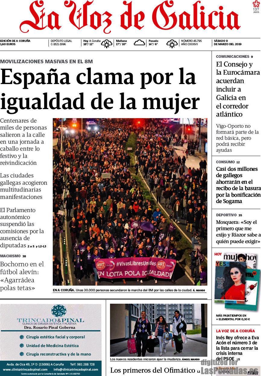 Periodico La Voz De Galicia 9 3 2019
